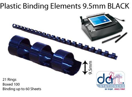 BINDING ELEMENTS  9.5MM BLACK