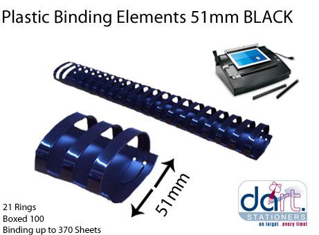 BINDING ELEMENTS 51MM BLACK
