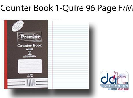 COUNTER BOOK 1-QUIRE 96 PG F/M
