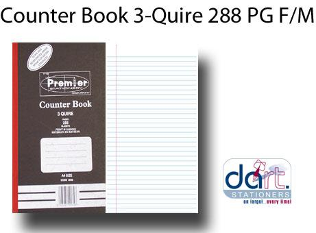 COUNTER BOOK 3-QUIRE 288 PG F/M