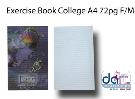 EXERCISE BOOK COLLEGE A4 72 PG  F/M