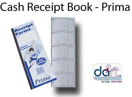CASH RECEIPT BOOK - PRIMA