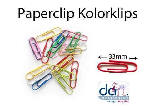 PAPERCLIP KOLORKLIPS 33mm