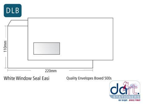 ENVELOPES DLB W/WINDOW S/SEAL