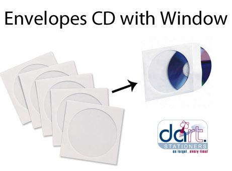ENVELOPES CD WITH WINDOW