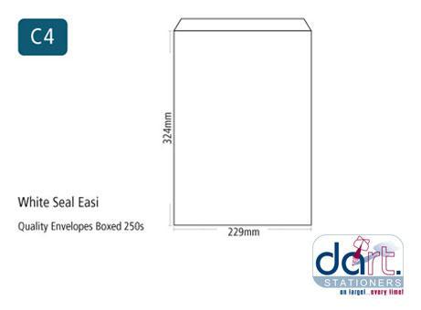 ENV 324X229 C4 WHITE S/SEAL