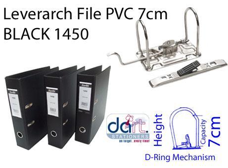 LEVERARCH PVC 7CM 1450 BLACK