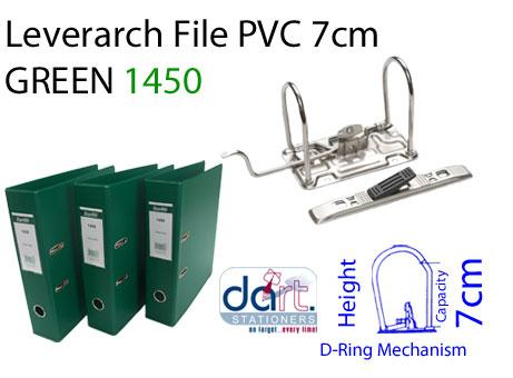 LEVERARCH PVC 7CM 1450 GREEN
