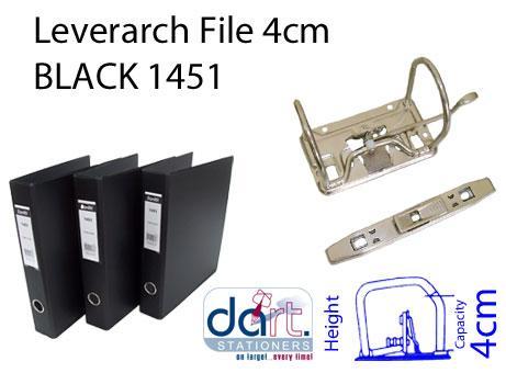 LEVERARCH PVC 4CM 1451 BLACK