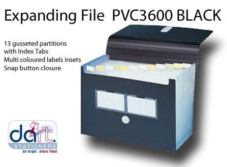 EXPANDING FILE PVC 3600 BLACK