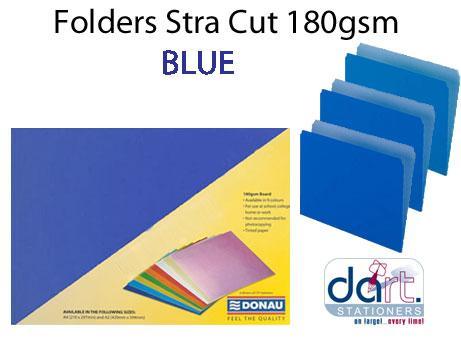 FOLDERS STRA CUT 180GSM BLUE