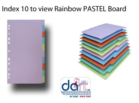 INDEX 10-TO-VIEW BOARD RAINBOW  PASTEL