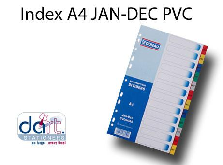 INDEX A4 JAN-DEC  PVC