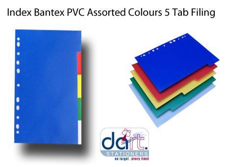 INDEX BANTEX ASS COL 5 TAB 5 DIFF COL B6005
