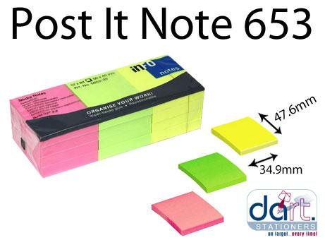 POST IT NOTE #653 AN NEON COL