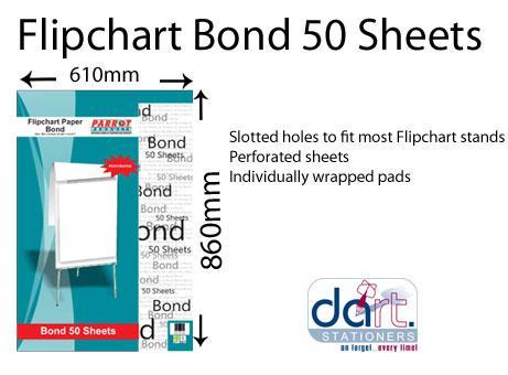 FLIPCHART PAD PARROT BOND 50SHTS PAD