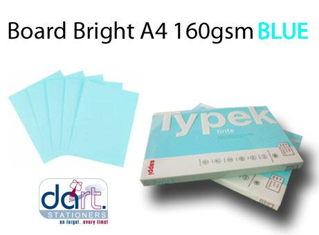 BOARD BRIGHT A4 160GSM BLUE