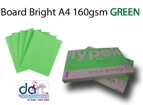 BOARD BRIGHT A4 160GSM GREEN