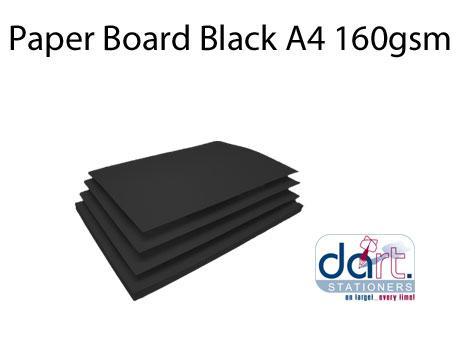BOARD BLACK A4 180GSM BLACK