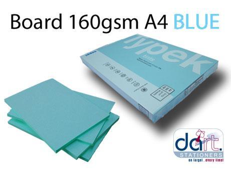 BOARD 160GSM A4 CELESTIAL BLUE