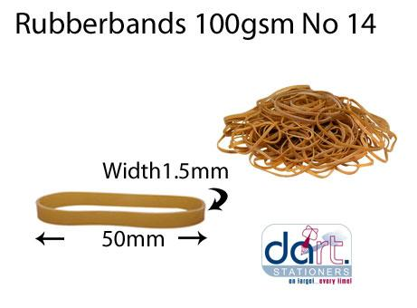 RUBBERBANDS 100gsm NO 14