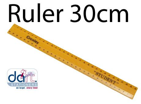 RULER 30cm SHATTER PROOF