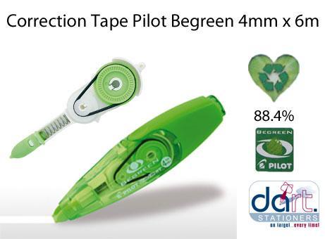 CORRECTION TAPE PILOT BEGREEN 4MMX6M