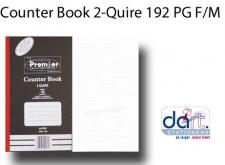 COUNTER BOOK 2-QUIRE 192 PG F/M