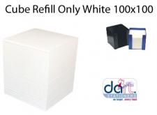 CUBE REFILL ONLY WHITE 100x100