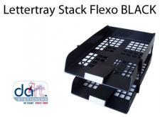 LETTERTRAY STACK FLEXO BLACK