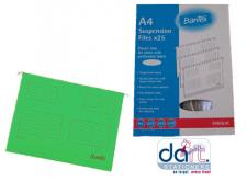 HANGING FILE BANTEX A4 GREEN