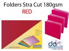 FOLDERS STRA CUT 180GSM RED