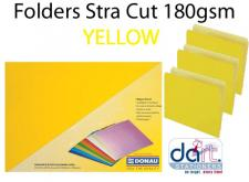 FOLDERS STRA CUT 180GSM YELLOW