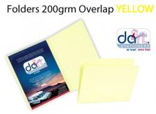FOLDER 200grm O/LAP YELLOW