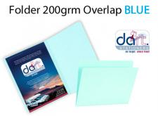 FOLDER 200grm O/LAP BLUE