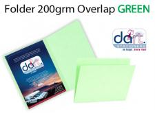 FOLDER 200grm O/LAP GREEN