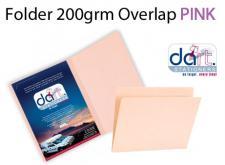 FOLDER 200grm O/LAP PINK