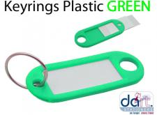 KEYRINGS PLASTIC GREEN