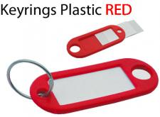 KEYRINGS PLASTIC RED