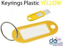 KEYRINGS PLASTIC YELLOW