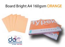 BOARD BRIGHT A4 160GSM ORANGE