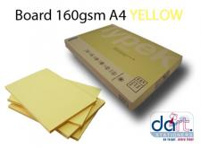BOARD 160GSM A4 SUNLIGHT YELLOW
