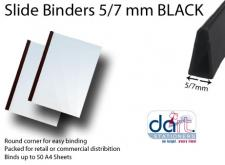 SLIDE BINDERS  5/7MM BLACK