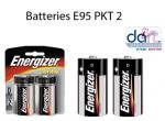 BATTERIES ENERGISER E95 PKT2