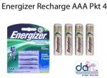 BATTERIES ENERGIZER RECHARGE AAA PKT 4 700MAH