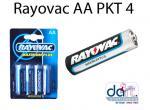 BATTERIES  RAYOVAC AA PKT 4  PENLIGHT