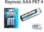 BATTERIES  RAYOVAC AAA PKT 4  PENLIGHT