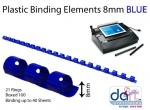 BINDING ELEMENTS  8MM BLUE