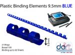 BINDING ELEMENTS  9.5MM BLUE