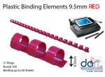 BINDING ELEMENTS  9.5MM RED